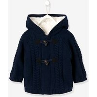 Cardigan with Hood, Faux Fur Lining, for Baby Boys blue dark solid