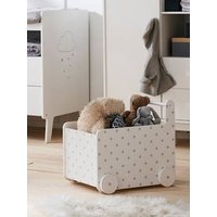 VERTBAUDET Storage Box on Wheels, Small Stars white light solid with design Storage Chests