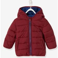 Reversible Jacket with Hood for Baby Boys blue dark solid