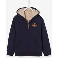 Zipped Jacket with Sherpa Lining for Boys grey light mixed color