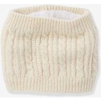 Cable Knit Snood for Girls red dark solid