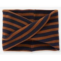 Crossover Striped Snood, for Boys brown medium solid