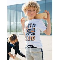 Sports T-Shirt with Trainer Print, for Boys white light solid with design