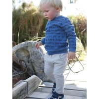 Sweatshirt and Trouser Outfit, for Baby Boys blue dark all over printed