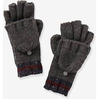 Convertible Glove Mittens in Mottled Knit, for Boys blue dark mixed color