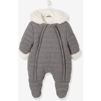 Pramsuit with Full-Length Double Opening, for Babies blue dark solid