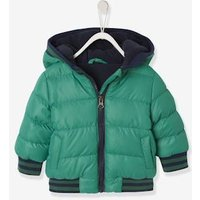 Jacket With Hood, For Baby Boys green medium solid