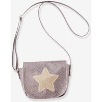 Handbag with Glitter and Star, for Girls pink dark 2 color/multicol or