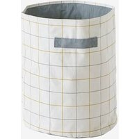 XL Storage Basket, Checks blue medium solid