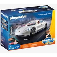 THE MOVIE Rex Dasher´s Porsche Mission E, by PLAYMOBIL grey light solid with design