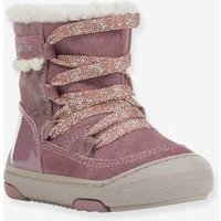 Fur-Lined Boots for Baby Girls, B Jayj Girl C, by GEOX® pink dark solid