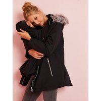 3-in-1 Adaptable Maternity and Post-Maternity Parka green dark solid