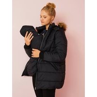 3-in-1 Adaptable Maternity and Post-Maternity Padded Jacket black dark solid