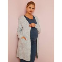 Long Loungewear Cardigan, Maternity Special grey light mixed color