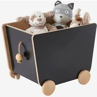 VERTBAUDET Box on Casters, Slate black dark 2 color/multicol Storage Chests