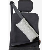 Seat Belt Pad for Children grey light all over printed.