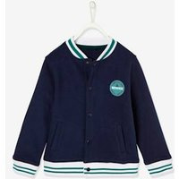 College-type Jacket, for Boys blue dark solid with design