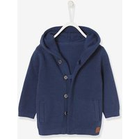 Cardigan with Hood, for Baby Boys blue dark solid