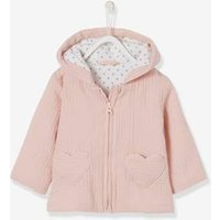 Cardigan in Cotton Gauze, for Baby Girls pink light solid