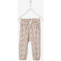 Printed Trousers with Elasticated Waistband for Babies blue dark all over printed