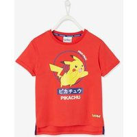 Pokemon ® T-Shirt for Boys red medium solid with desig.