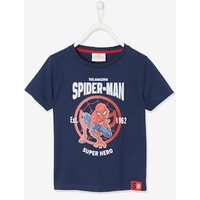 Spider-Man ® T-Shirt for Boys, by Marvel blue dark solid with design.