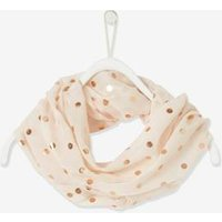 Double Twist Snood with Iridescent Dots for Girls pink light all over printed