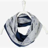 Reversible Snood with Surf Motif or Plain, for Boys grey medium  all over printed