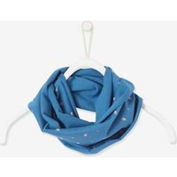 Printed Snood for Girls blue dark all over printed