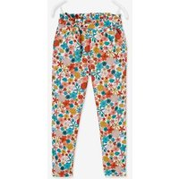 Fluid Trousers with Print, for Girls blue light all over printed