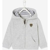 Jacket with Hood and Zip For Baby Boys grey light mixed color