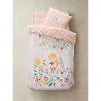 Childrens Duvet Cover + Pillowcase Set, Organic Collection, LOVELY WORLD white