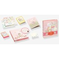 My Stationery Rosalie, by DJECO pink light solid with design.