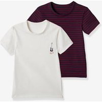 Pack of 2 Short-Sleeved T-Shirts for Boys,