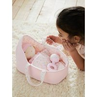 Mon Premier Baby Doll, Carry Bed & Assorted Accessories pink medium solid with desig.