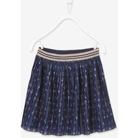 Pleated Skirt for Girls blue dark all over printed