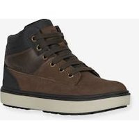 Ankle Boots for Boys, Mattias Boy by GEOX® brown dark solid
