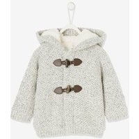Speckled Cardigan with Plush Lining, for Babies grey medium solid