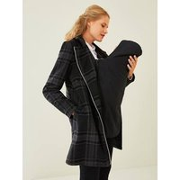 Adaptable Coat, Maternity and Nursing Special grey medium checks