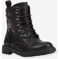 Boots for Girls, Éclair Girl by GEOX® black dark solid