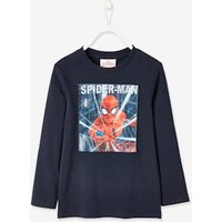 Marvel Spiderman ® Long Sleeve Top for Boys blue dark solid with design.
