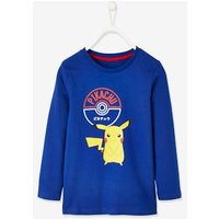 Pokemon ® Top with Front & Back Motif for Boys blue dark solid with design.