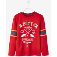Harry Potter ® Top for Boys, Front with Quidditch Motif, Back with Number red dark solid with design.