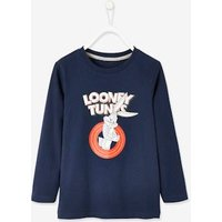 Looney Tunes ® Top with Front & Back Motif for Boys blue dark solid with design.