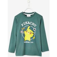 Pok ©mon ® Long Sleeve Top for Boys green dark solid with design.