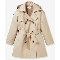 Trench Coat for Girls:  Timeless Classic N°6, by CYRILLUS beige