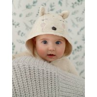 Cardigan with Deer Hood and Ears for Newborn Baby white light solid with design