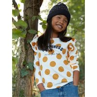Top with Dots & Ruffles for Girls white light all over printed.
