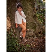 Faux Fur Waistcoat for Girls white light solid