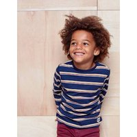 Striped Top for Boys grey medium striped